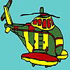 Big military helicopter coloring game
