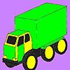 Голям товарен автомобил оцветяване игра
