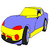 Big speedy car coloring game