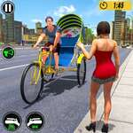 Bicycle Tuk Tuk Auto Rickshaw Jeu de conduite libre jeu
