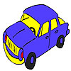 игра Синий скорейшего окраски автомобиля