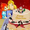 Gâteau de Noël fleur ciel jeu
