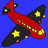 Fekete wings repülőgép színező játék