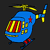 Blue hot helicopter coloring game