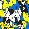 Nero macchiato da colorare mucca gioco