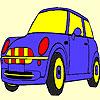 Mavi sevimli araba boyama oyunu