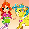 Bloom Unicorn Dressup game