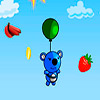 Catcher fruits panda bleu jeu