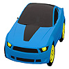 Blue city car coloring game