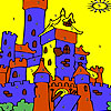 Blue castle coloring game