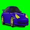 Coloriage de voiture de rêve bleu jeu