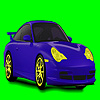 Blue dream car coloring game