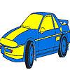 Coloriage de voiture de luxe bleu jeu