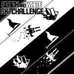 Desafío de esquí blanco negro juego