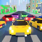 Blok araba yarışı oyunu