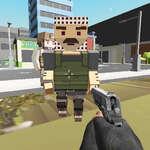 Blokovať pixelový policajt hra