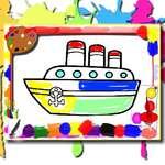Лодки книжка за оцветяване игра