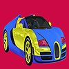 Bright two color car coloring game
