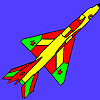 Bright Air Force plane coloring game