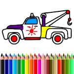 BTS Camioane de colorat joc
