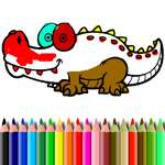 BTS Aligator colorat joc