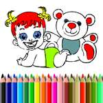 BTS Baby Doll Coloring game