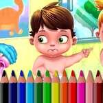 BTS Baby Carte de colorat joc