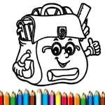 BTS School Bag Coloring Book game