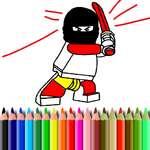 Libro para colorear para héroes bts juego