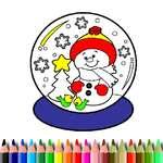 BTS Navidad libro para colorear juego