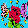 Butterflies in the valentine day coloring game