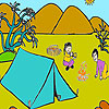 Camping two friends coloring game
