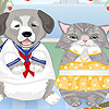 Pisica rochie de câine până joc
