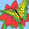 Camellia şi fluture colorat joc