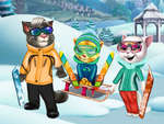 Cats Winter Fun game
