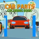 Libro para colorear piezas de coche juego