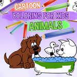игра Мультфильм Раскраска для детей животных