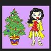 Christmas tree and jane coloring game