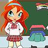 Chibi Bloom écolière jeu