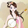 Fată chineză muzician joc