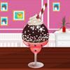 Čokoláda zmrzlina dekorácie hra