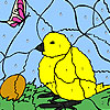 Chick And egg coloring game