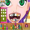 Affascinante ragazza al dentista gioco
