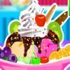 Chocolate helado de vainilla juego