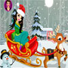 Christmas Girl with Reindeer Dress Up game