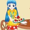 Schickes Restaurant Kellnerin Mädchen Spiel
