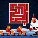 Karácsonyi labirintus játék