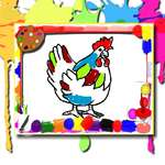 Chicken Coloring Book game