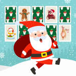 Christmas Memory Cards game