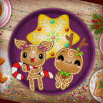 Christmas Gingerbread Color Me game